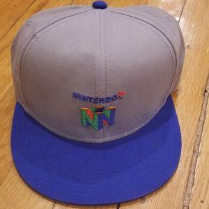 20ee2cd1ba7 Accessories - Nintendo 64 Flat Brim Snapback Hat
